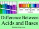 acids and bases differences entranciology