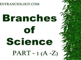 branches of science entranciology