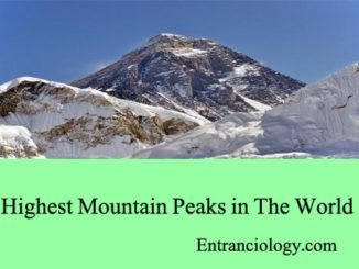 highest mountain peaks in the world entranciology