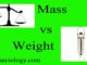 mass vs weight entranciology difference