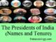 the presidents of india and their tenure of office entranciology