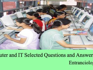 Computer and IT Selected Questions and Answers Set 4 entranciology