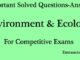 Environment and ecology questions and answers solved entranciology set 5