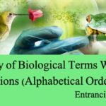 Glossary of Biological Terms With Full Definitions (Alphabetical Order ) A-C
