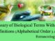 Glossary of Biological Terms With Full Definitions (Alphabetical Order ) A-C entranciology