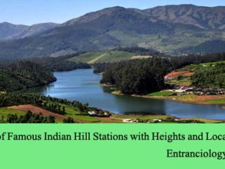 List of Famous Indian Hill Stations with Heights and Locations entranciology