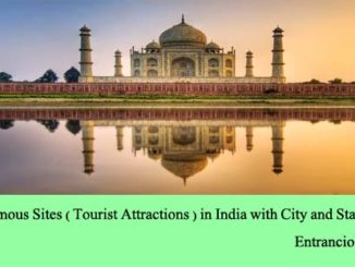 List of Famous Sites Tourist Attractions in India with City and State Names entranciology
