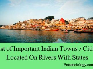 List of Important Indian Towns Cities Located On Rivers With States entranciology