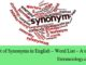 List of Synonyms in English – Word List – A to C entranciology