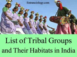 List of Tribal Groups and Their Habitats in India entranciology