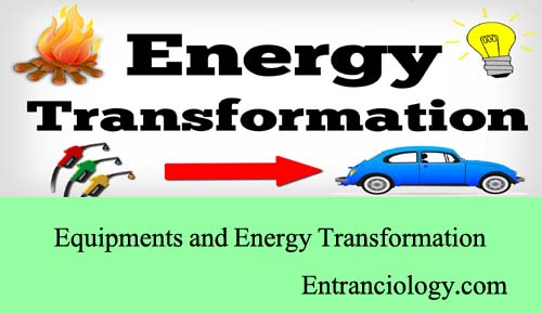 equipments and energy transformation using them entranciology
