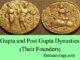 gupta and post gupta dynasties and their founders entranciology