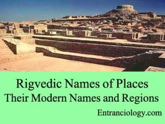 list of ancient places modern names and regions rigvedic entranciology