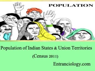 population of india and union territories census 2011 entranciology