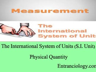 si units of physical quantities entranciology