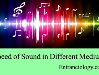 speed of sound in different medium entranciology