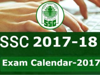 ssc exam calender 2017 - 18 entranciology