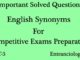 english synonyms for competitive exams entranciology