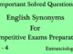 english synonyms for competitive exams entranciology set 4