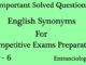 english synonyms for competitive exams entranciology set 6 ias ips upsc ssc cgl ibps bank po objective type english questions and answers