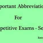 Abbreviation General Knowledge Questions and Answers for Competitive Exams Set 1
