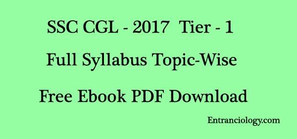 ssc cgl 2017-18 Full Syllabus tier - 1 ebook pdf download free entranciology.com