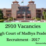 MP High Court Recruitment 2017, 2910 Vacancy : Apply Online, Assistant, Stenographer & More