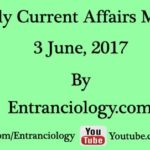 Daily Latest Current Affairs MCQs For Competitive Exams : 3 June 2017