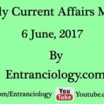 Daily Latest Current Affairs MCQs For Competitive Exams : 6 June 2017