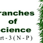 Branches of Science with Definition in Alphabetical Order Part – 3 ( N – P )