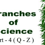 Branches of Science with Definition in Alphabetical Order Part – 4 ( Q – Z )