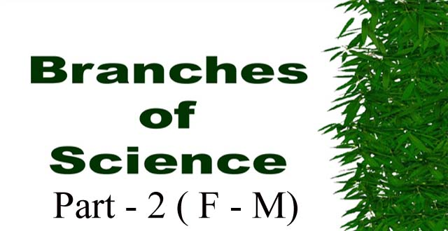 branches of science alphabetical order part 2 f to m entranciology for civil services exams competitive examination