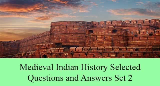 Medieval Period Indian History Multiple Solved Multiple