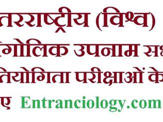 अंतरराष्ट्रीय (विश्व) भौगोलिक उपनाम सभी प्रतियोगिता परीक्षाओं के लिए entranciology exams