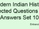 Modern Indian History Selected Questions and Answers Set 10 Entranciology