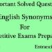 English Synonyms Solved Questions and Answers (MCQ) Set 6
