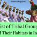 List of Tribal Groups and Their Habitats in India - Indian Geography Study